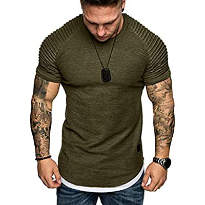 XLnuln Fashion Men's Stay Tucked Crew T-Shirt Slim Fit Casual Pattern Large Size Short Sleeve Hoodie Top Blouse