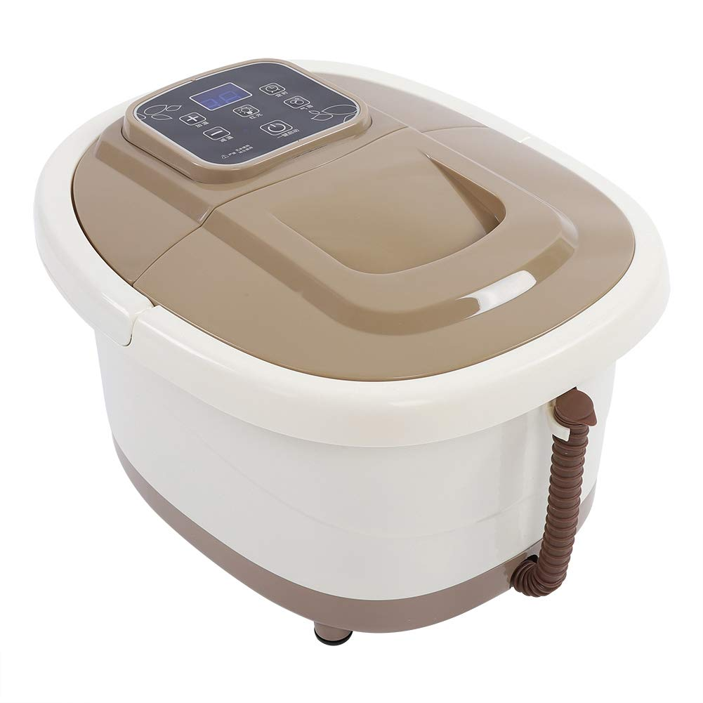 Foot Spa Massager, Portable Foot Spa Bath Massager Bubble Heat Soaker Vibration Pedicure Soak Tub US Plug 110V Zerone