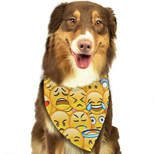FRTSFLEE Dog Bandana Fondo De Pantalla De Emoticon Scarves Accessories Decoration for Pet Cats and Puppies]()
