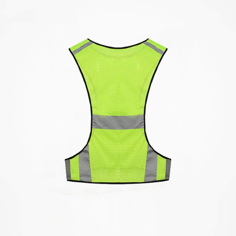 RYYAIYL Night Running Outdoor Sports Reflective Safety Clothes Riding Shirt Reflective Running Vest with Safety LED Lights Perfectly Suitable for Jogging, Biking (Color : A)