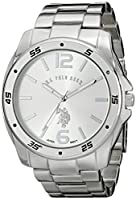 U.S. Polo Assn. Classic Men's USC80223 Silver-Tone Watch with Link Bracelet