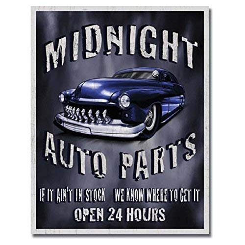 MMNGT Legends - Midnight Auto Parts Automotive Tin Sign TIN Sign 7.8X11.8 INCH