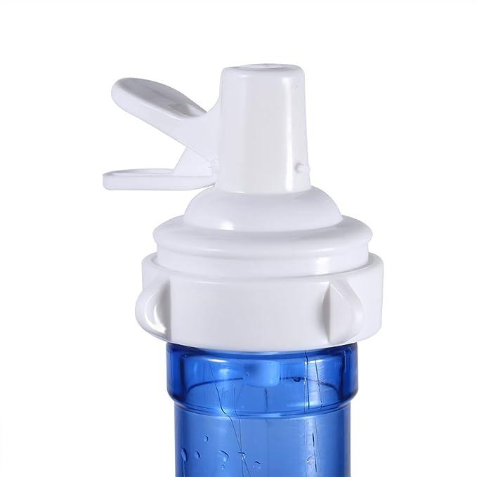 Amazon.com: (Pack of 2) Plastic Spigot Water Replacement Bottle Top Valve Faucet Dispenser Simple Device White: Home & Kitchen