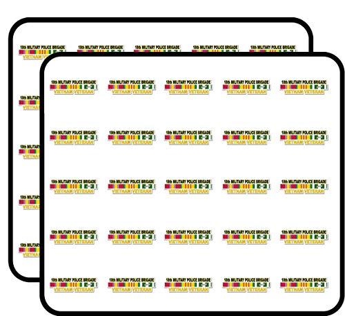 (U.S. Army 18th Military Police Brigade Vietnam Veteran Window Strip 50 Pack Sticker for Scrapbooking, Calendars, Arts, Album, Bullet Journals and More 1
