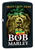 Zippo Lighter: Bob Marley, Iron Lion Zion - Black Matte 78402