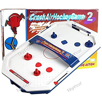 Buy DESKTOP BATTERY OPERATED CRASH AIR HOCKEY TABLETOP GAME TOY FOR ...