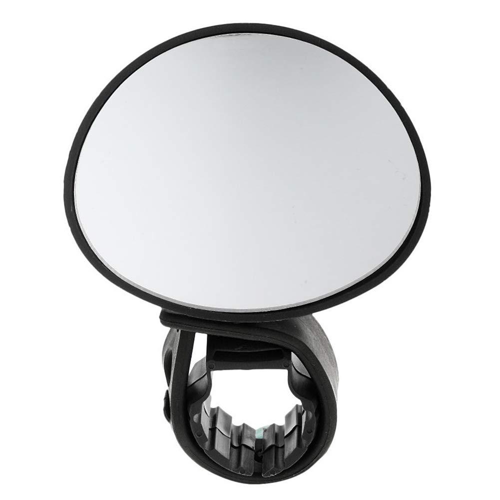 ouken Hafe Rearview Mirror 360 degr/és Rotatif Guidon Vue arri/ère Miroirs Miroir de Verre v/élo r/églable Noir