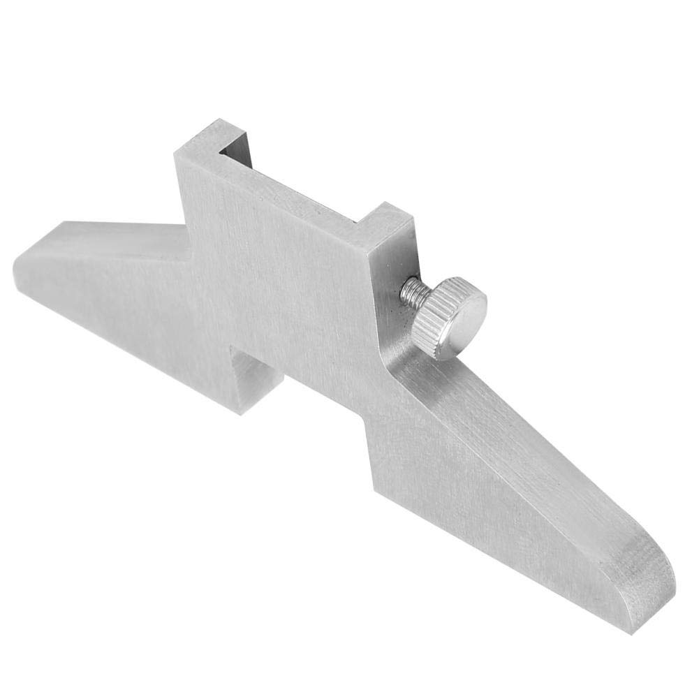 7 x 0.8 x 3 cm Base de medidor de profundidad de acero Accesorio de medidor de profundidad de la pinza para dial Digital Vernier Caliper Base de profundidad de la pinza