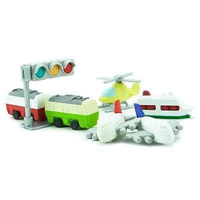 Iwako Japanese Vehicle and Plane Eraser Set: Toys & Games