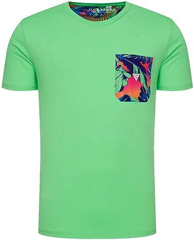 Guess F02I02 JR03D LIFL - Camiseta para hombre Verde M: Amazon.es: Ropa y accesorios