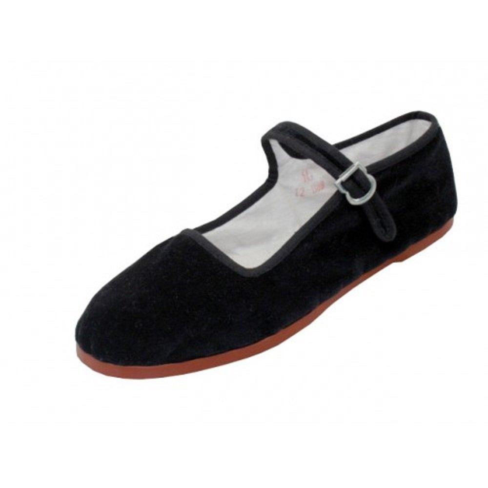 easy USA Women's Cotton Mary Jane Shoes Ballerina Ballet