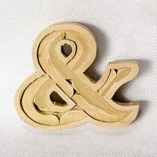 Amazon.com: Wooden alphabet letters home decor DIY woodden letters wood carving wooden ...