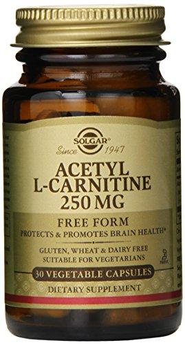 Сольгар ацетил L-карнитин Растительные капсулы, 250 мг, 30 граф