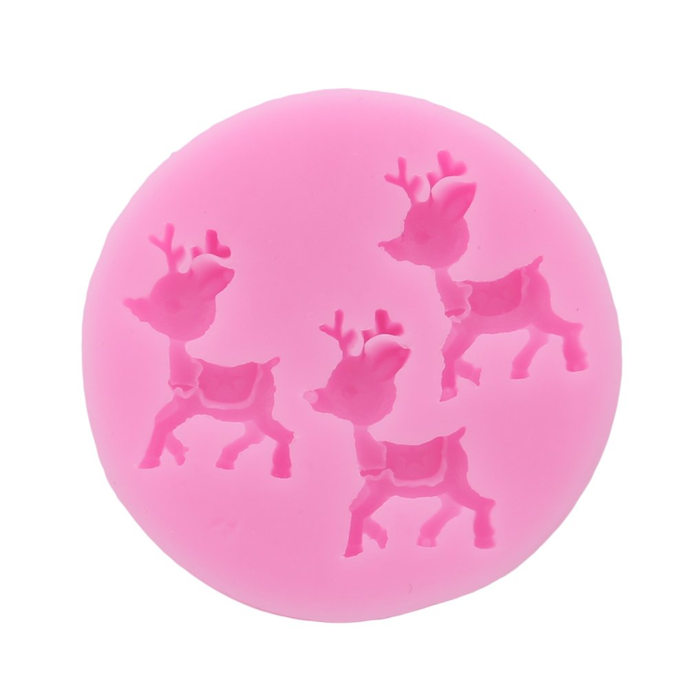 Dolland Little Deer Silicone Mold Sugar Craft Fondant Cake Tools Cake Decoration Mold Kitchen Baking Decoration Tool