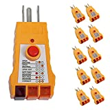 10 GFI Electric Outlet Plug Receptacle Circuit Tester Analizer Home Electrical