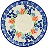 Polish Pottery Saucer 5-inch Tulip Berries