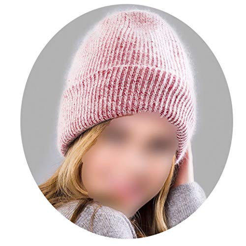 Comfortable Knitting Cuffed Skull Beanies Hats Women's Casual Thermal Solid Color Outdoor Caps