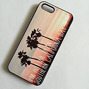 Beautifulcase BLACK cell phone case cover for iPhone 4 4S MAROON SKY & 5 1gJgWHa6QmD PALM TREES