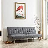 Best Futons - Naomi Home Tufted Split Back Futon Sofa Gray/Linen Review