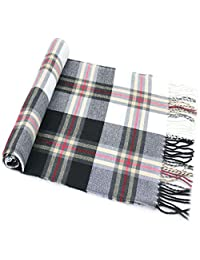 Black & White Multi Colour Men's Tartan Pattern Design Fashion Knitted Scarf Scarves NEW