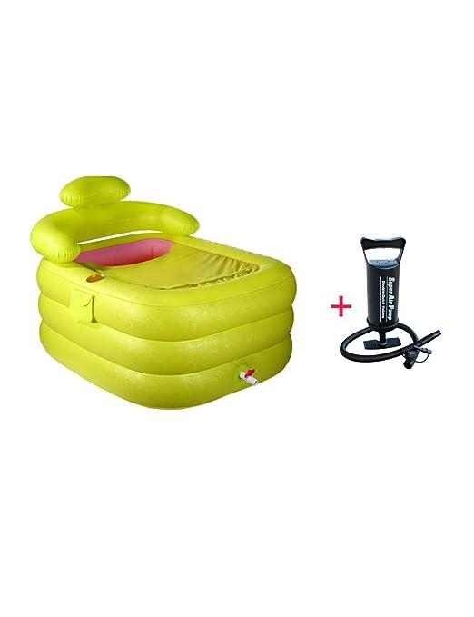 FLYSXP Bañera Hinchable bañera para Adultos Engrosamiento bañera ...