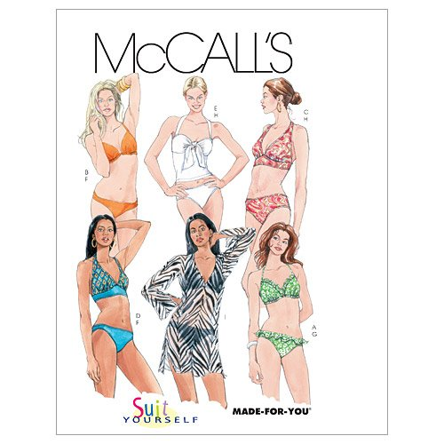 McCall's Pattern Misses' 2-Piece Bathing Suit and Cover-Up,