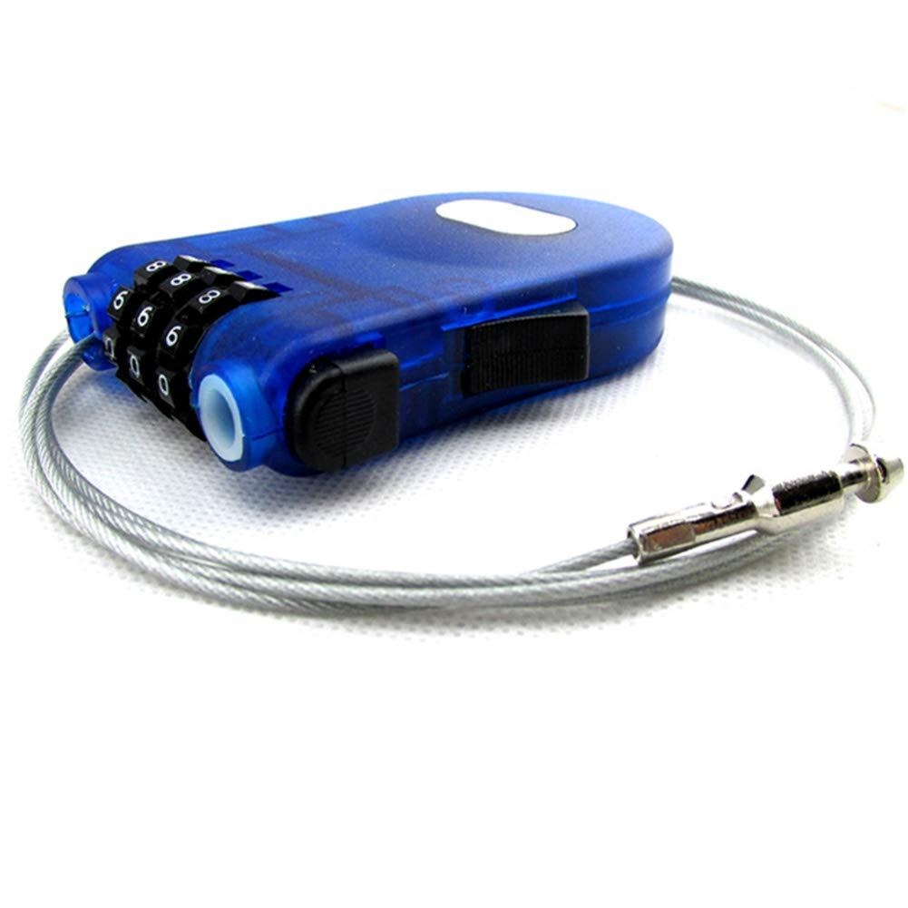 SUNERLORY Candado Cable Cuerda C/ódigo Coche Seguridad Cose/ña esqu/í Piezas Bicicleta Antirrobo dillo Largo Mini candado Alambre Extensible 3 d/ígitos Azul