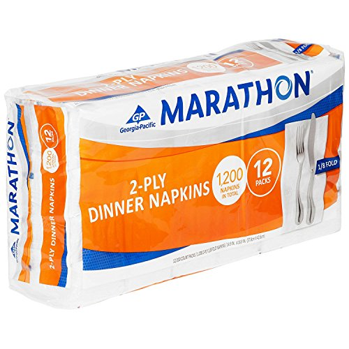 Marathon 1/8 Fold Embossed Dinner Napkins, 1200 Count (Dinner Napkin Folds)