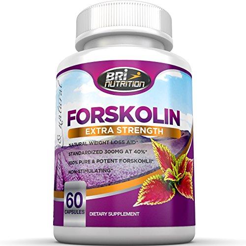 Сильнейший Форсколин на рынке - 300 мг стандартизованного уровня на 40% Производить 120 мг активного Forskolli - клиническая силы 60-дневный запас - Pure Natural Herbal пищевая добавка Экстракт Вот, ориентированных на здоровый - Идеально для живота жир, с