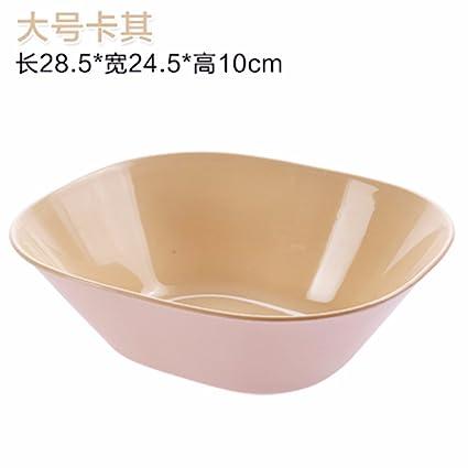LOSTRYY Bandeja de plástico, plato de fruta Fruta seca atmosférica atmósfera simple vasijas redondas grandes