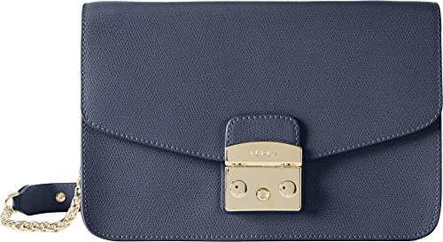 Furla Women's Metropolis Small Shoulder Bag Navy One Size