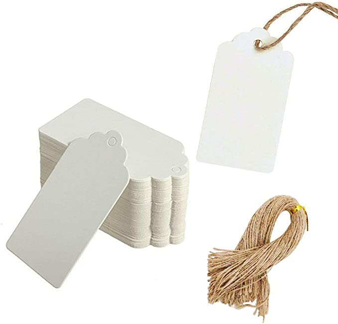 200 Pieces Valentine/'s Day Gift Tags Heart Kraft Paper Tags Hang Label Tags with 131 Feet Red White Twine Rope for Valentines Day Wedding Party Supplies 5 Colors