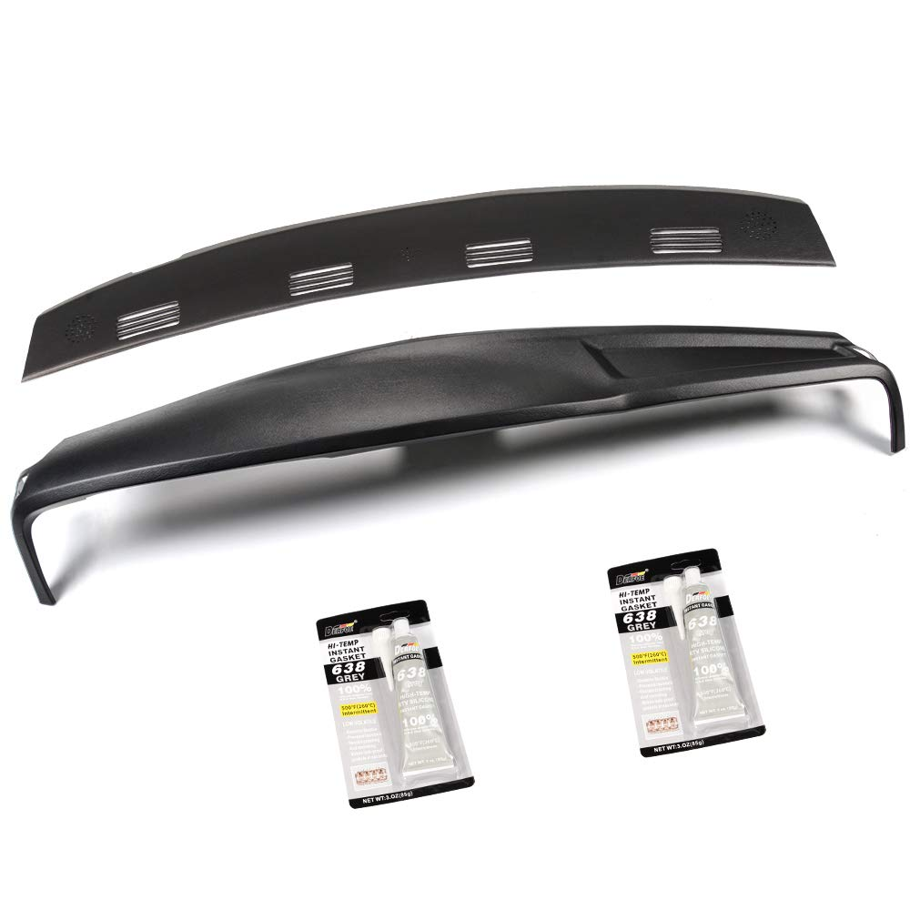 Ram 2500 3500 2003-2005 in Black VRracing New Plastic Molded Dash Cover Set Kit Compatible for Dodge Ram 150002-05