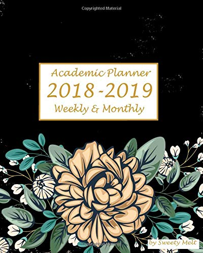 Read Online Academic Planner 2018-2019 Weekly And Monthly: Vintage Floral Lettering Cover26(Black),Calendar Schedule Organizer and Journal Notebook with Humor Quotes (August 2018-July 2019) pdf epub