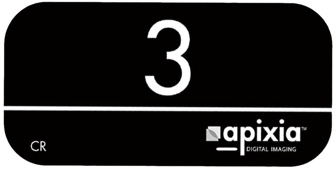 Apixia 10800 Phosphor Plates, 22 mm Height, 35 mm Length, 0.15 mm Thickness, Size 0 (Box of 4)