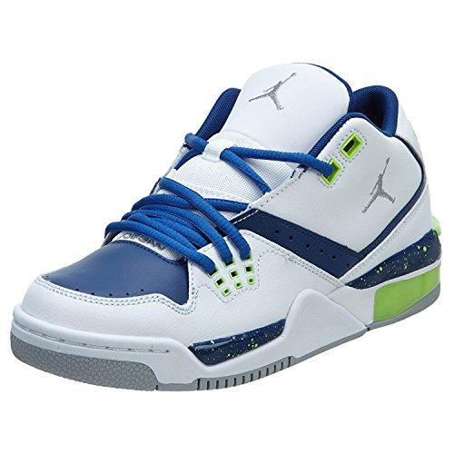 [317821-118] Air Jordan Flight 23 (BG) Grade School Sneakers Air JORDANWHITE/WLF Gry-Insgn BL-Ghst - Shipping Coupon Michaels