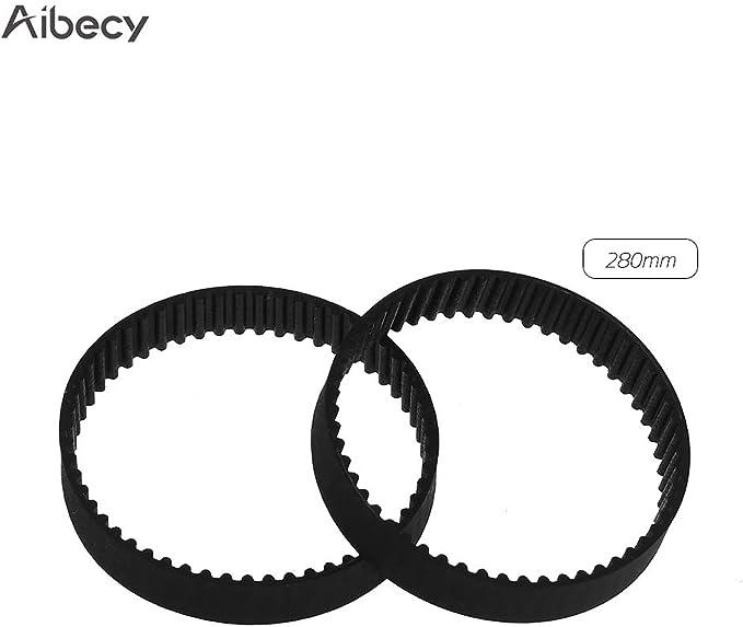 de 6 mm de largeur et de longueur de 110 158 Paquet de 2 courroies dent/ées /à n/œud ferm/é 112 610 en caoutchouc 852 et 1220 mm pour imprimante 3D Aibecy GT2 280 400 200
