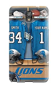 Perfect Detroit Lions Case Cover Skin For Galaxy Note 3 Phone Case