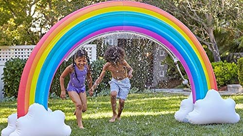 MerryXD Rainbow Sprinkler,Giant Water Inflatable Arch Sprinkler Outdoor Summer Toys for Kids by MerryXD (Image #4)