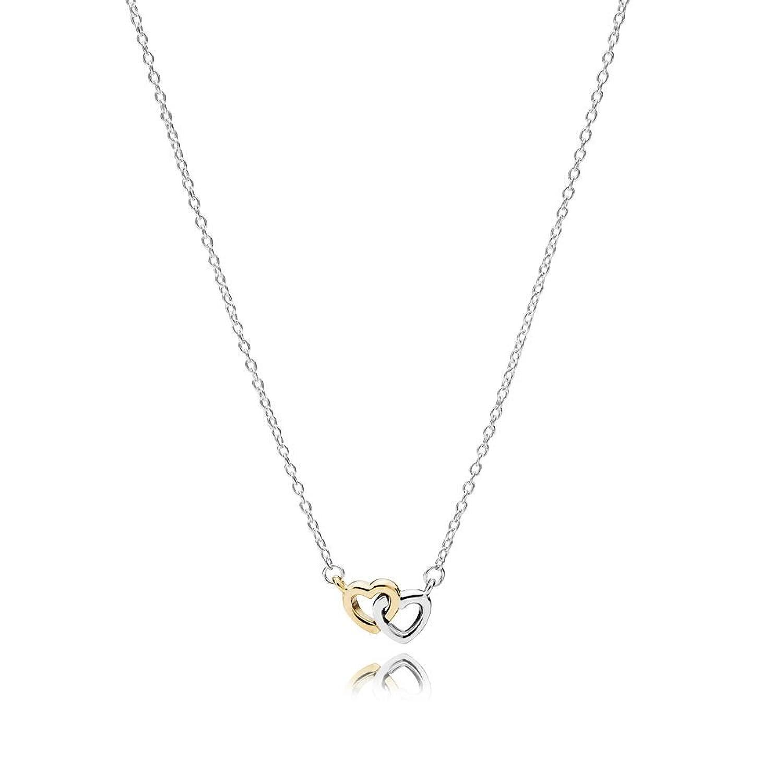 Colgante Pandora  Mujer plata y oro Corazón