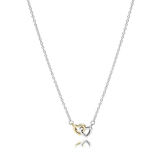 288e1db24c8b69 Amazon.com: Pandora United In Love Two Tone Necklace 59051745: Jewelry