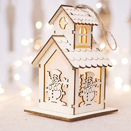 - Hot Sale!DEESEE(TM)Christmas Ornaments LED Light Chalet Hotel Bar Christmas Tree Decoration (C)