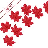 Artificial Maple Leaves Wine Red Approximately 200pcs Autumn Fall Liftlike Outdoor Wedding Party Festival Countyard Indoor House Decorations