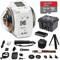 KODAK PIXPRO ORBIT360 4K 360° VR Camera Satellite Pack 64GB Bundle