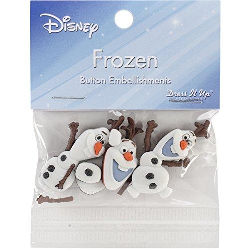 Dress It Up 7750 Disney Frozen Button Embellishments