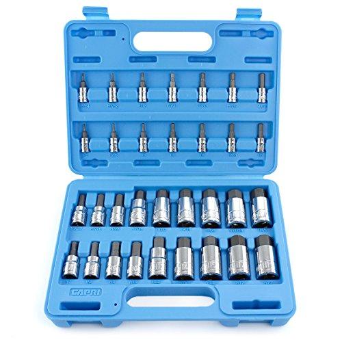 Capri Tools 30032 Master Hex Bit Socket Set, Metric & SAE, ()