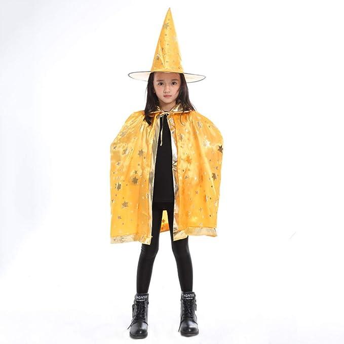 MAYOGO Disfraz Halloween Cape Bebe Niño Cosplay Capa Bruja para ...