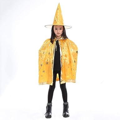 MAYOGO Disfraz Halloween Cape Bebe Niño Cosplay Capa Bruja ...