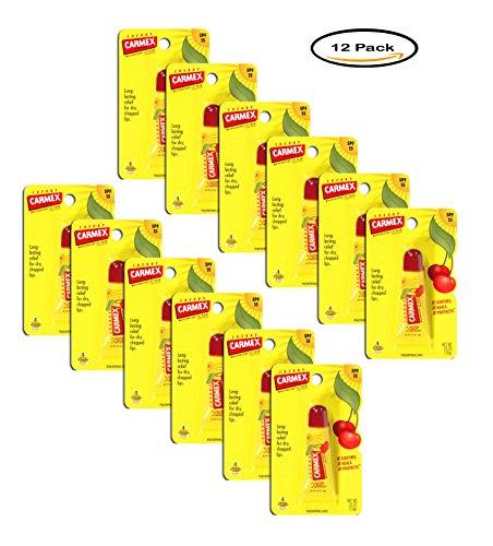 Pack of 12 - Carmex Lip Balm, Cherry