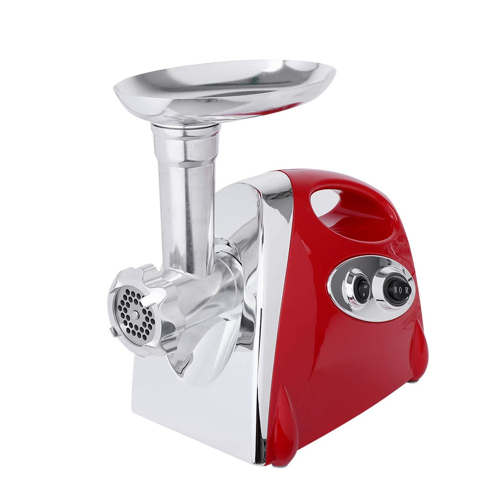 Electric Meat Grinder, Meat Mincer & Sausage Stuffer Grinder 2800W Max Sausage Maker with 4 Stainless Steel Grinding Plates, Cutting Blade, Sausage Stuffing Tubes Kubbe Attachments for Home Use&Commercial (Red) by ShunFuET